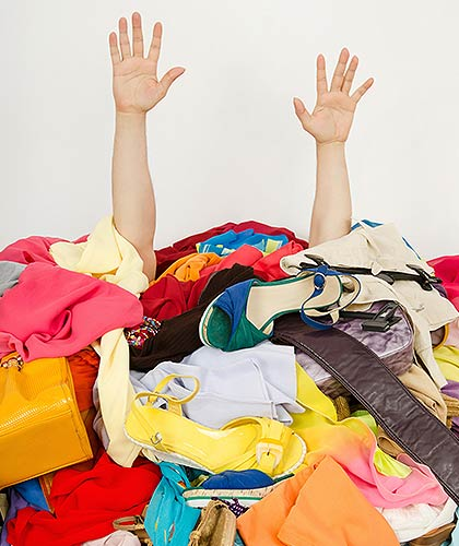 Person swamped in clothing
