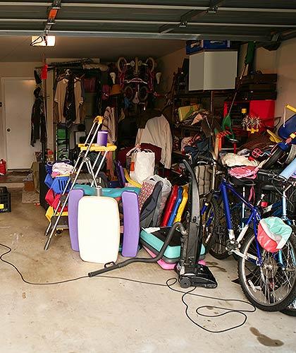 Garage full of property